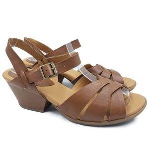 Korks By Kork Ease Leather Chunky Block Heels